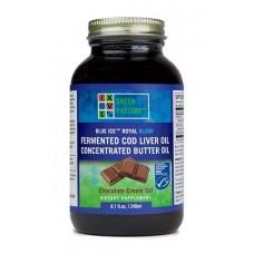 Blue Ice Royal Blend fermentovaný olej z tresčej pečene + maslový olej - čokoláda