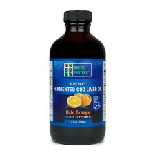Blue Ice tradičný RAW 100% rybí olej fermentovaný z tresčej pečene - pomaranč